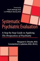 Systematic Psychiatric Evaluation PDF