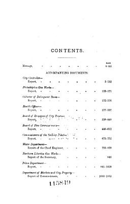 Annual Message of the Mayor of the City of Philadelphia with the Annual Reports of Directors of Departments PDF