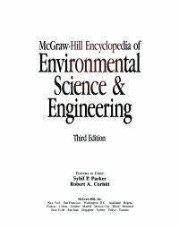 McGraw Hill Encyclopedia of Environmental Science   Engineering PDF