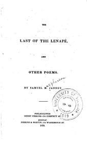 The last of the Lenapé: and other poems