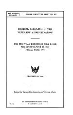 Medical Research in the Veterans' Administration