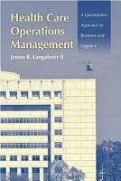 Health Care Operations Management PDF