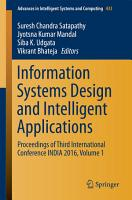 Information Systems Design and Intelligent Applications PDF