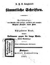 Prosaische Werke: in dreißig Bänden, mit ein und dreißig Stahlstichen. Talismane gegen die lange Weile ; Sammlung 3. 13