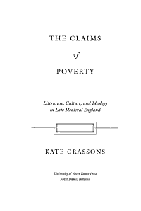 The Claims of Poverty PDF