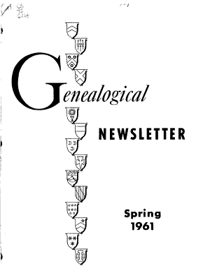 Genealogical Newsletter and Research Aids PDF