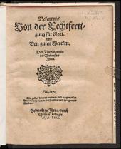 Bekentnis Von der Rechtfertigung für Gott vnd Von guten Wercken Der Theologen in der Universitet Jhena