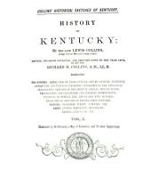 History of Kentucky: Volume 1