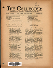 The Collector: A Monthly Magazine for Autograph and Historical Collectors, Volume 14, Issue 1