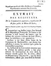 Séances du mercredi 24 juillet 1793 [qui reconnaissent la Convention Nationale]
