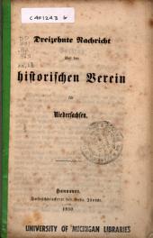 Nachricht über den Historischen Verein für Niedersachsen: Ausgabe 13