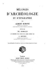 Mélanges d'archéologie et d'épigraphie: Volume1