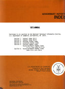 Government Reports Index PDF