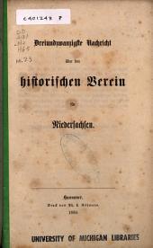 Nachricht über den Historischen Verein für Niedersachsen: Ausgabe 23