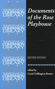 Documents of the Rose Playhouse Book