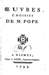 Œuvres choisies de M. Pope