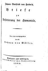 Johann Gottfried von Herder's sämmtliche Werke: zur Philosophie und Geschichte, Bände 13-14