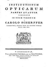 Institutionum opticarum partes quatuor: Volume 2