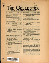 The Collector: A Monthly Magazine for Autograph and Historical Collectors, Volume 16, Issue 5