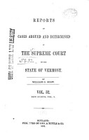 Reports of Cases Argued and Determined in the Supreme Court of the State of Vermont PDF