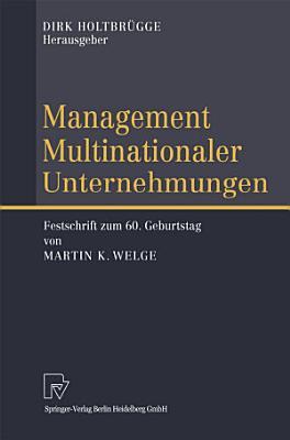 Management Multinationaler Unternehmungen PDF