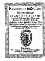 Revocation vnd Confessions Predigt PDF