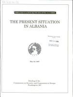 The Present Situation in Albania PDF