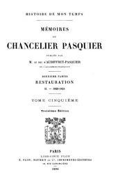 Mémoires du Chancelier Pasquier: 1820-1824