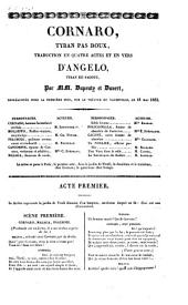 Cornaro, tyran pas doux, traduction en quatre actes et en vers d'Angelo, tyran de Padoue
