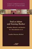 Paul as Infant and Nursing Mother PDF