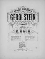 La grande duchesse de Gerolstein PDF