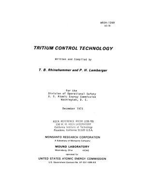 Tritium Control Technology