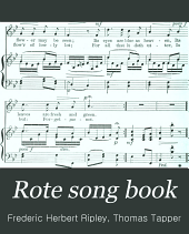 Rote Song Book: First Steps in Music