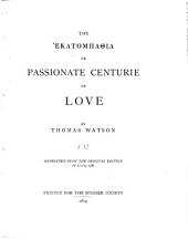 The [HEKATOMPATHIA]: Or, Passionate Centurie of Love, Issue 6; Issue 8