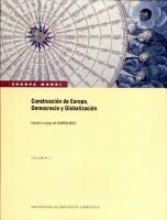 Construcci  n de Europa  democracia y globalizaci  n PDF