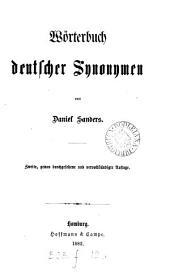 Wörterbuch deutscher Synonymen. 2e, durchgesehene Aufl