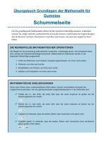 bungsbuch Grundlagen der Mathematik f  r Dummies PDF