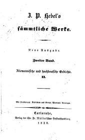 J. P. Hebel's sämmtliche Werke: Band 2