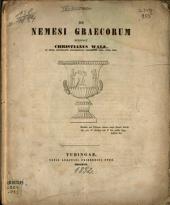 De Nemesi Graecorum scripsit Christianus Walz ...