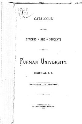 Catalogue of the Officers and Students of Furman University PDF