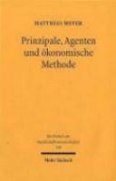 Prinzipale  Agenten und   konomische Methode PDF