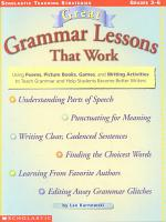 Great Grammar Lessons that Work