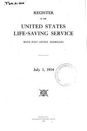 Register of the U.S. Life-Saving Service with Post Office Addresses