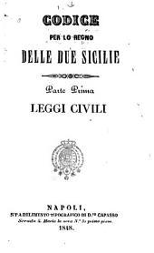 Codice per lo Regno delle Due Sicilie: Parti 1-5