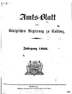 Amtsblatt der Preu  ischen Regierung zu Koblenz PDF