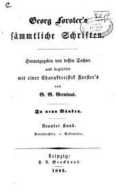 bd. Briefwechsel. Sakontala