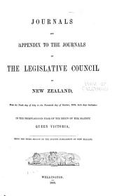Journals of the Legislative Council of the Dominion of New Zealand