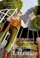 The Oxford Companion to English Literature PDF