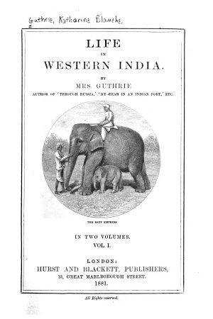 Life in Western India PDF