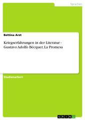 Kriegserfahrungen in der Literatur - Gustavo Adolfo Bécquer, La Promesa